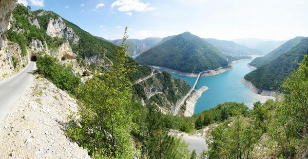 Чорногороря краєвид на Півське водосховище