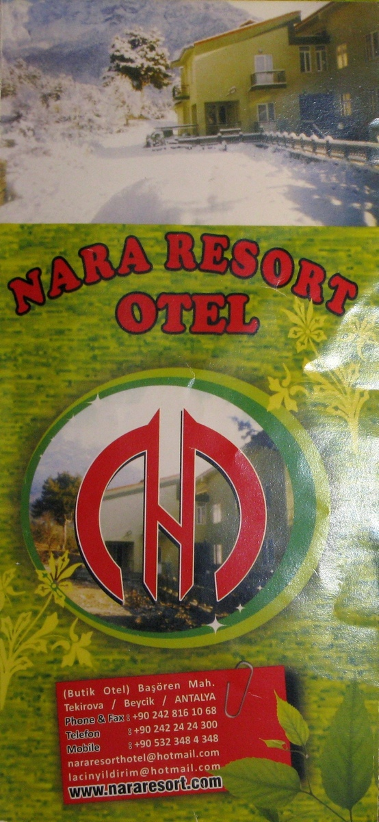 NaraResort hotel card